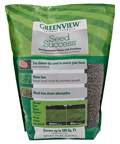 GreenView Fairway Formula Seed Success (2329827) Biodegradable Mulch with Fertilizer - 10 lb. - Covers 200 sq. ft.