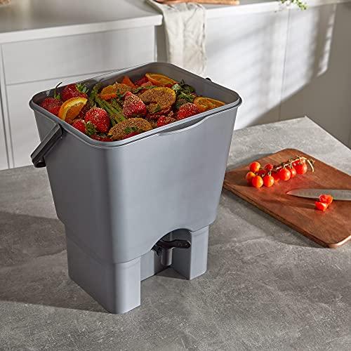VonHaus Bokashi Bin Composter, Set of 2 Bokashi Compost Bins, Bokashi Starter Set With Bran, Bokashi Kit Food Waste Composter
