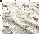Frühling, Toile De Jouy, Schwan, Bär, Eichhörnchen,