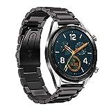 SPGUARD Compatibile con Cinturino Huawei Watch GT, Cinturino di Ricambio Regolabile in Acciaio...