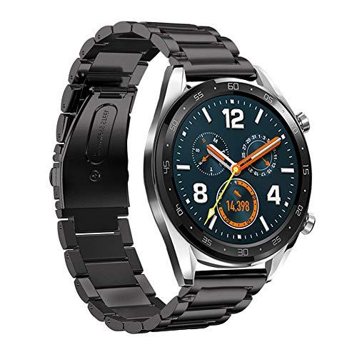 SPGUARD Cinturini Compatibile con Cinturino Huawei Watch GT 2e Cinturino Huawei Watch GT 2 46mm,Cinturini di Ricambio Regolabile in Acciaio Inossidabile da 22mm per Huawei GT 2e/GT 2/GT-Nero