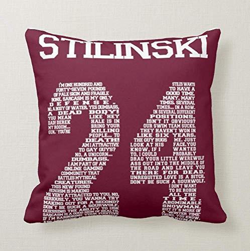 Pillow Cuscino Personalizzato 40X40 Meme Tributo Teen Wolf Stilinski Teen Agers Serie TV Cult 1 Divano Arredamento Idea Regalo