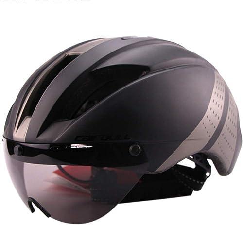 BTAWM Helmets Ultraleichte Goggle TT Rennradhelm Racing Radfahren Fahrrad Sporthelm TT Zeitgesteuerter Rennradhelm,