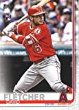 2019 Topps #520 David Fletcher Los Angeles Angels Rookie Baseball Card. rookie card picture