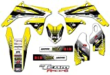 Team Racing Graphics kit compatible with Suzuki 2008-2017 RMZ 450, ANALOGBase kit