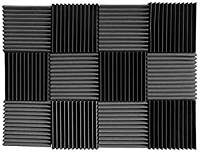 (12 Pk) Charcoal acoustic foam tiles soundproofing foam panels sound insulation soundproof foam padding sound dampening Studio sound proof padding 1