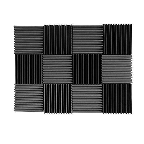(12 Pk) Charcoal acoustic foam tiles soundproofing foam...