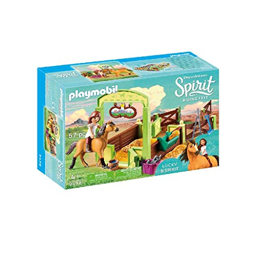 Playmobil- Lucky & Spirit Box per Cavalli Set da giocco, Multicolore, 9478