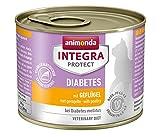 animonda Integra Protect Diabetes para gatos, comida dietética para gatos, comida húmeda para gatos con diabetes mellitus, con ave, 6 x 200 g