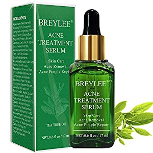 Acne treatment products Acne Treatment Serum, BREYLEE Tea Tree Clear Skin Serum for Clearing Severe Acne,