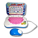 Jullynice Portable Bilingual Early Educational Learning Machine Kids Laptop Toy with Mouse Computer Children Gift Developmental Toy