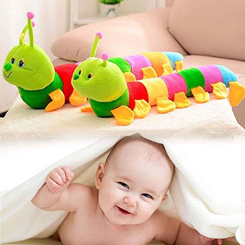 TRIEtree Colorful Caterpillar Plush Toy, Long Stuffed Animal Caterpillar Pillow Soft Colorful Caterpillar Infant Toy for Kids, Newborn, Boys and Girls
