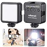 ULANZI LEDカメラビデオライト 充電式 バッテリー2000mAh内蔵 ソフト光 超高輝度 明るさ調整 3コールドシュー付き スマートフォンライト iPhone/DJI Osmo Pocket/Osmo Mobile 3/Gopro Hero 8/7/6/5 Sony/ニコン/Canon ミラーレスカメラ 用