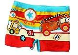 OMDD Red Boy Leg Swim Shorts for Kids Cartoon Car Swim Trunk, Toddler Boys Boxer Swimming Shorts 3-5 Years Old