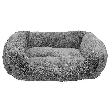 Produktsabmessung: 45 x 35 x 12 cm. Super weicher und angenehmer Schlafplatz für Ihr Haustier. Tiefer Komfort Einstieg für den bequemen Ein- und Austieg Ihres Haustier. Die Unterseite des Haustierbetts besteht aus regenfestem Tuch, das wasserdicht is...
