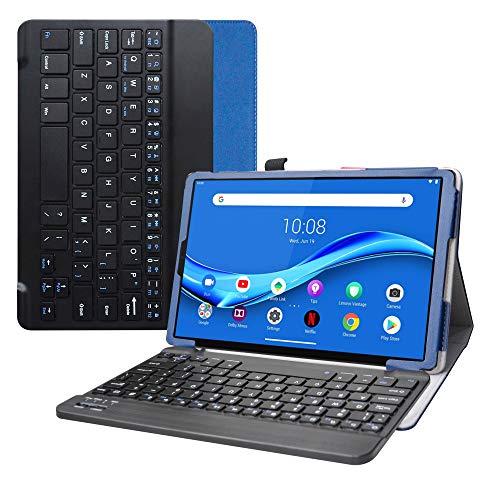 LFDZ Lenovo Tab M10 Plus Bluetooth Teclado Funda,[Detachable] Bluetooth Teclado Ultra Slim PU Cuero con Soporte Caso Case Funda para 10.3