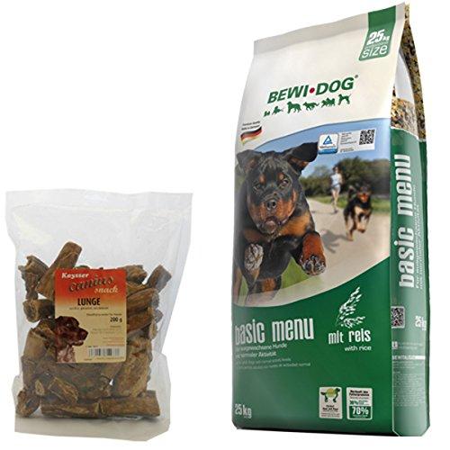 Bewi Dog 25 kg Basic Menu + 200 g Canius Lunge