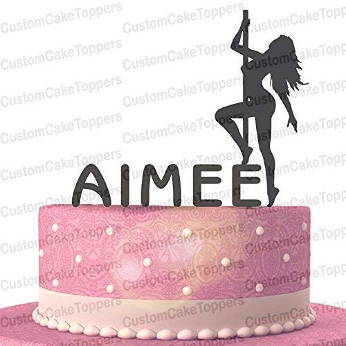 Pole Dancer Cake Topper Personalized Custom with Your Last Name