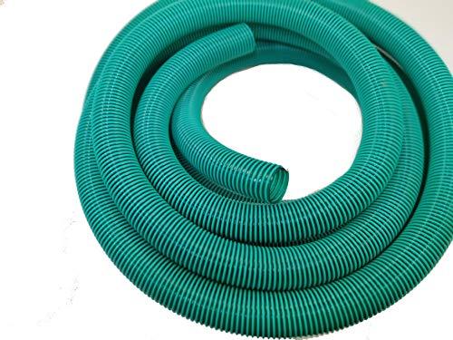 Hero Manguera en espiral para aspiradora, manguera de presión, manguera de extracción, 50 mm, verde/transparente, 10 metros