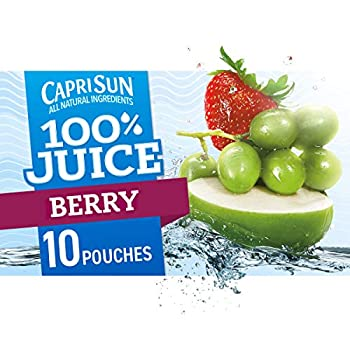 Capri Sun 100% Berry Juice Ready-to-Drink Juice  40 Pouches 4 Boxes of 10