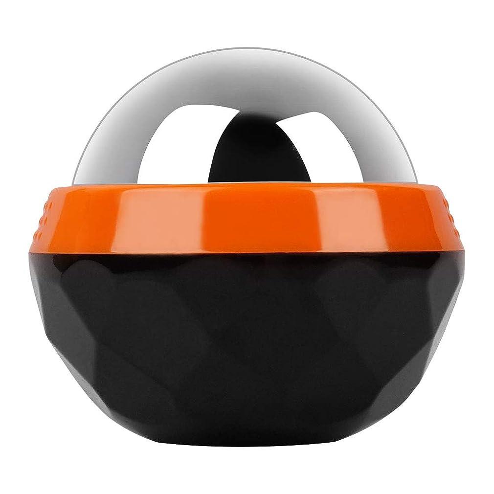 試用倉庫対応するGeTooコールドマッサージローラーボール-2.4インチの氷球は6時間冷たさを持続、アイスセラピーディープティッシュマッサージ、オレンジとブラック