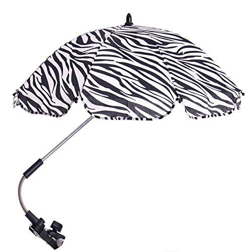 Pare-soleils et Ombrelles,Migavenn R/églable B/éb/é Poussette Landau Sun Ombre UV Protection Parapluie Parasol avec Holder Clip pour Fauteuil Roulant Poussette Accessoires