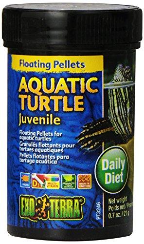 Exo Terra Juvenile Aquatic Turtle Food, Floating Pellets for Reptiles, 0.7 Oz., PT3246