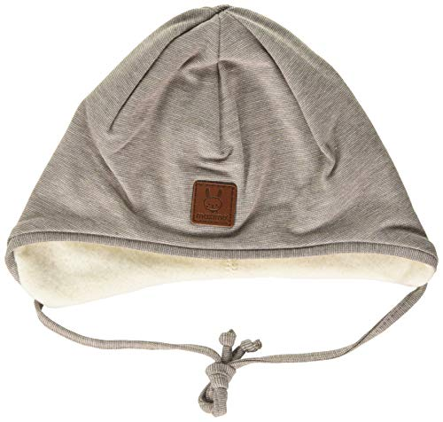 maximo Unisex Baby Band Beanie-Mütze, hellbraunmeliert, 39