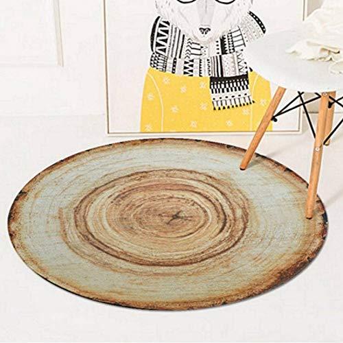 FORNCALO tapijten tapijten matten deurmatten 3D hout boom jaarlijkse Ring ronde gebied tapijten en tapijten woonkamer slaapkamer anti-slip vloer mat Kids kamer computer stoel bank