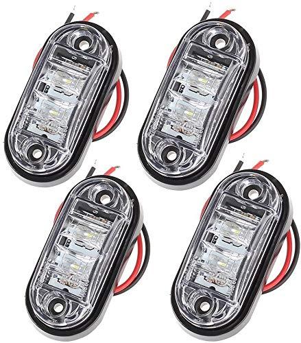 4 PCS LED Luces de Posición Delantera 12V 24V Camión Van Remolques...