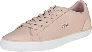 Lacoste Lerond 118 Womens Plimsole Lace Up Trainer In Pink
