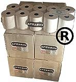 EPOSBITS® Rollos de marca para caja registradora Casio SE-G1 SEG1 SE G1, color blanco, 80 rollos