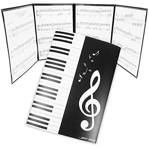 ING STYLE 書き込みできる! 楽譜 譜面 ファイル カバー A4 ピアノ レッスン 作曲