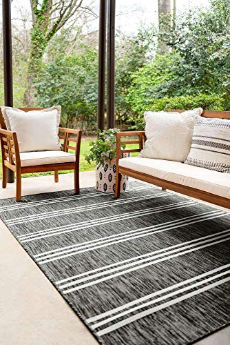 Unique Loom Jill Zarin Outdoor Collection Modern Geometric Beige Area Rug