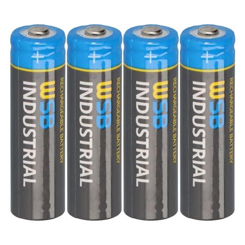 WSB 4er Pack SOLAR Mignon AA Akkus - wiederaufladbare Batterien - 3,2V 1,92Wh LiFePo4 Hochleistungs- Akku Batterie speziell für Solarlampen Solar Lichterkette Solarleuchte Leuchte