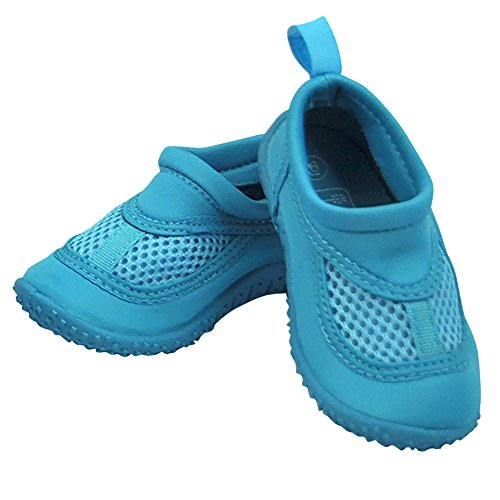Infant Toddler Unisex Water Sand and Swim Shoes by Iplay - Aqua - 6 Infant