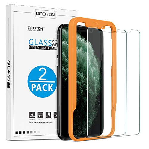 OMOTON Tempered Glass Screen Protector Compatible with Apple iPhone 11 Pro/iPhone Xs/iPhone X 5.8 inch [2 Pack]