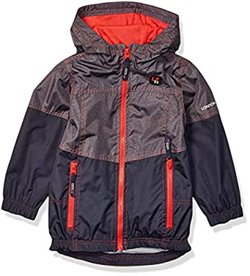 LONDON FOG Boys' Little Lightweight Mesh Lined Jacket, Grey/Navy Ripstop, 5/6