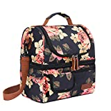Best Work Lunch Boxes - LOKASS Lunch Bags for Women Double Deck Insulated Review