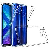 REY - Funda Carcasa Gel Transparente para Huawei Honor 8X, Ultra Fina 0,33mm, Silicona TPU de Alta Resistencia y Flexibilidad