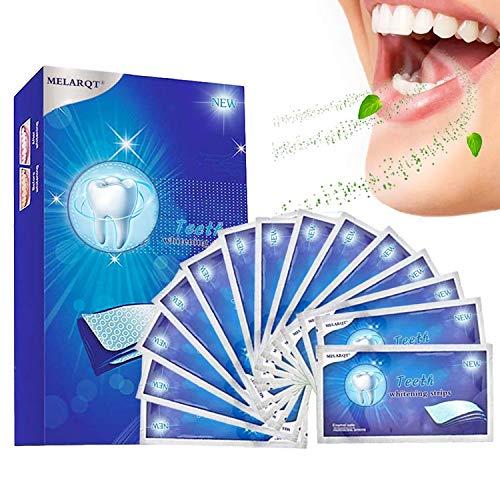 White Strips, 28 Bleaching Stripes Zahnaufhellung Streifen in 14 Tagen, Whitening Stripes Zähne für Weiße Zähne, Gegen Gelbe Zähne, Rauchflecken, Schwarze Zähne