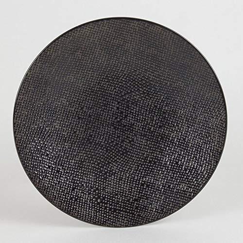 Table Passion - Assiette à dessert Vésuvio noir 20.5 cm (Lot de 6)