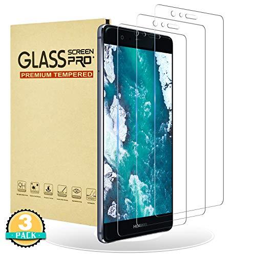 RIIMUHIR Protector de Pantalla para Huawei P9,[3 Unidades] Vidrio Templado para Huawei P9,9H Dureza,CristalTemplado,Alta Definición,Compatible con 3D Touch Película