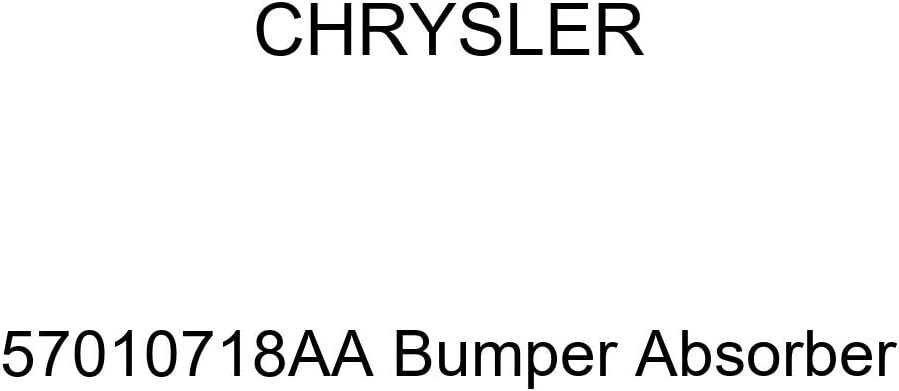 Genuine Chrysler 2021 autumn and winter new 57010718AA 67% OFF of fixed price Absorber Bumper