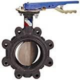 NIBCO LD-2000-3 Series Ductile Iron Butterfly Valve with EPDM Liner and Aluminum Bronze Disc, Lever-Lock Handle, Lug, 3'