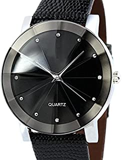Fabal Luxury Quartz Sport Military Stainless Steel Dial Leather Band Wrist Watch Men