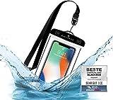 BLACKROX wasserdichte Handyhülle - Handyschutz Wasserfeste Handytasche Cover Beutel Beachbag Tasche Handy Hülle Waterproof Case iPhone X/XS 8 7 6s Samsung S10 S9 S8 S7 (Schwarz)