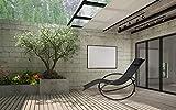 WOLTU Sonnenliege Gartenliege Schwingliege klappbare Relaxliege Liegestuhl - 4