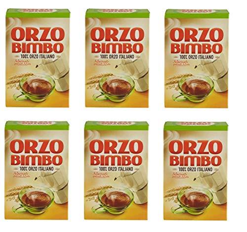 6x Orzo Bimbo gemahlen Mokka lösliche Gerste Getreidekaffee Kaffee 500 gr
