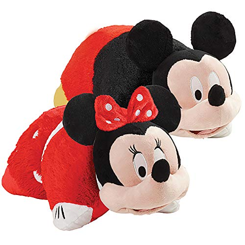 Pillow Pets Disney Mickey & Rock The Dot Minnie, Set of Two 16' Plush Stuffed Animal Toys, Multicolor